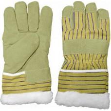 Перчатки рабочие кожаные (спилковые) с мехом