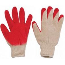 Перчатки вязаные х/б с резин. залив. наладонника