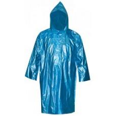 Плащ дождевик синий, полиэтилен